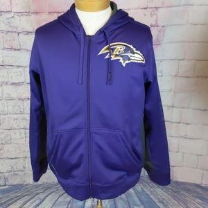 Nike therma fit NFL baltimore ravens zip hoodie M